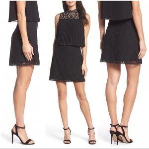 🆕 Anthro Ali & Jay Black Lace A-Line Mini Skirt S